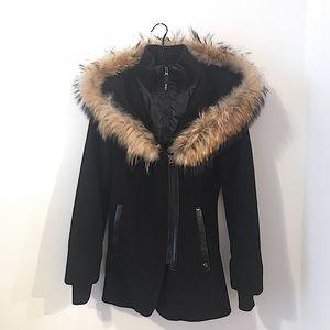 Sicily Clothing Angelina Wool Fur Coat